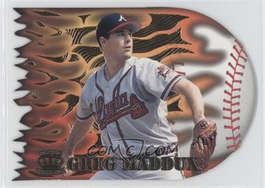 1996 Pacific Prisms - Flame Throwers #FT-7 - Greg Maddux