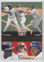 Charles Johnson, Ivan Rodriguez, Mike Piazza /1500