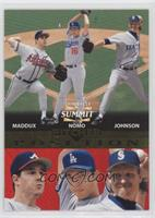 Greg Maddux, Hideo Nomo, Randy Johnson #/1,500