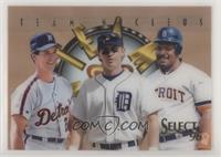 Cecil Fielder, Travis Fryman, Phil Nevin