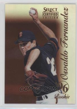 1996 Select Certified Edition - [Base] - Mirror Red #116 - Osvaldo Fernandez /90