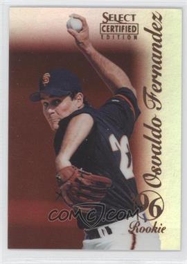 1996 Select Certified Edition - [Base] - Mirror Red #116 - Osvaldo Fernandez /90