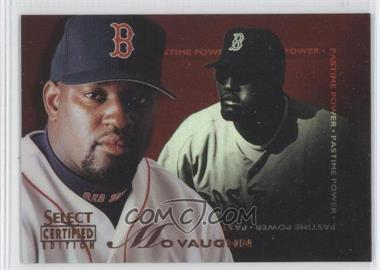 1996 Select Certified Edition - [Base] - Mirror Red #141 - Mo Vaughn /90