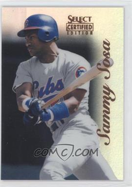 1996 Select Certified Edition - [Base] - Mirror Red #59 - Sammy Sosa /90