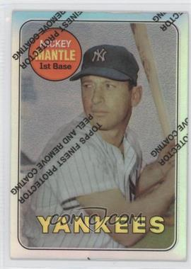 1996 Topps - Mickey Mantle Commemorative Reprints - Finest Refractors #19 - Mickey Mantle (1969 Topps)