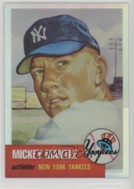 1996 Topps - Mickey Mantle Commemorative Reprints - Finest Refractors #3 - Mickey Mantle (1953 Topps)