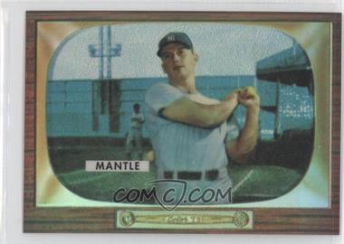 1996 Topps - Mickey Mantle Commemorative Reprints - Finest Refractors #5 - Mickey Mantle (1955 Bowman)