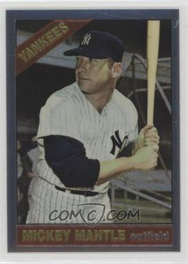 1996 Topps - Mickey Mantle Commemorative Reprints - Finest #16 - Mickey Mantle (1966 Topps)