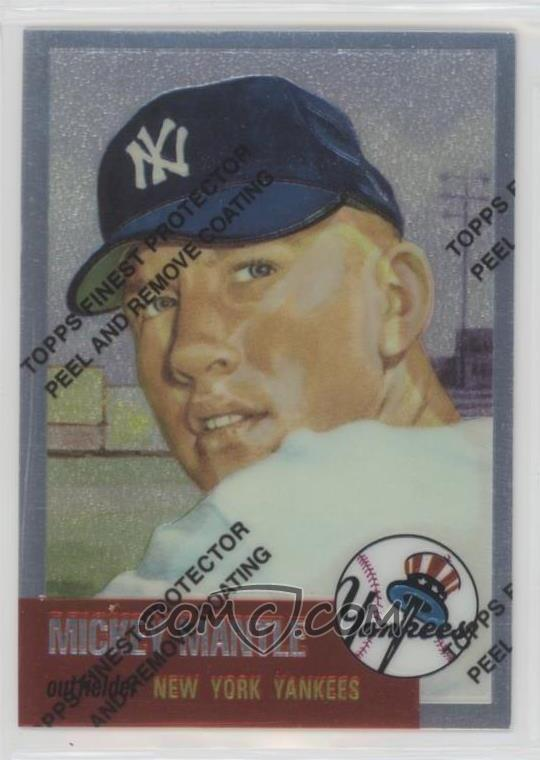 1996 Topps Mickey Mantle Commemorative Reprints Finest 3