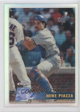 1996 Topps Chrome - [Base] - Refractor #93 - Mike Piazza