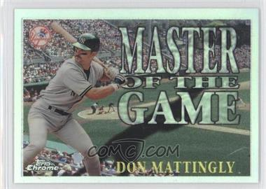 1996 Topps Chrome - Master of the Game - Refractor #MG13 - Don Mattingly