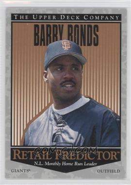 1996 Upper Deck - Retail Predictor #R32 - Barry Bonds