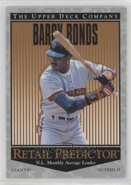 1996 Upper Deck - Retail Predictor #R55 - Barry Bonds