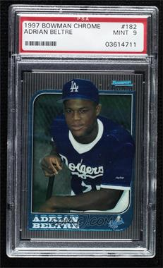 1997 Bowman Chrome - [Base] #182 - Adrian Beltre [PSA 9 MINT]