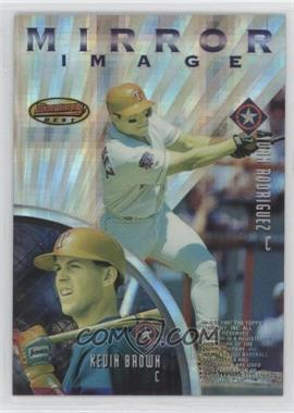 1997 Bowman's Best - Mirror Image - Atomic Refractor #MI4 - Kevin Brown, Eli Marrero, Mike Piazza, Ivan Rodriguez