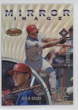 1997 Bowman's Best - Mirror Image - Refractor #MI4 - Ivan Rodriguez, Kevin Brown, Mike Piazza, Eli Marrero