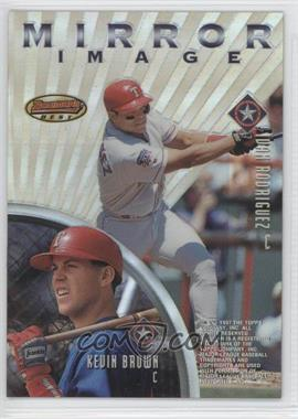 1997 Bowman's Best - Mirror Image - Refractor #MI4 - Ivan Rodriguez, Kevin Brown, Mike Piazza, Eli Marrero