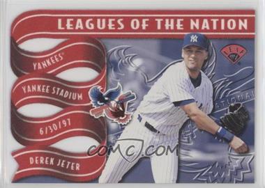 1997 Leaf - Leagues of the Nation #4 - Derek Jeter, Kenny Lofton /2500