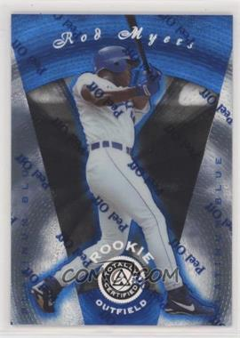 1997 Pinnacle Totally Certified - [Base] - Platinum Blue #126 - Rod Myers /1999