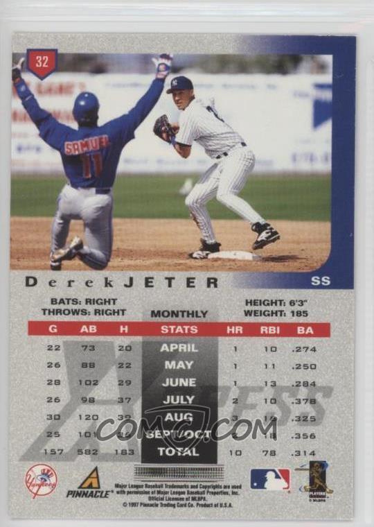 1997 Pinnacle X-Press - [Base] #32 - Derek Jeter