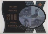 Greg Maddux, Randy Johnson, John Smoltz, Roger Clemens #/500