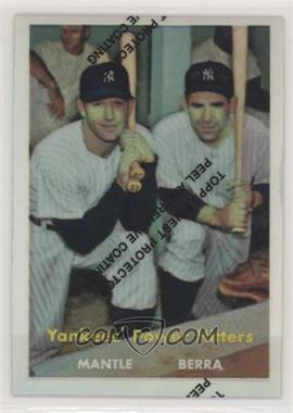 1997 Topps - Mickey Mantle Reprints - Finest Refractors #23 - Mickey Mantle, Yogi Berra (1957 Topps)