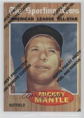 1997 Topps - Mickey Mantle Reprints - Finest Refractors #35 - Mickey Mantle (1962 Topps)