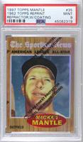 Mickey Mantle (1962 Topps All-Star) [PSA9MINT]