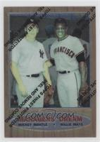 Mickey Mantle, Willie Mays (1962 Topps; Elston Howard; Ernie Banks and Hank Aar…