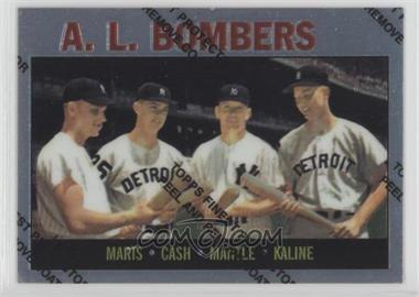 1997 Topps - Mickey Mantle Reprints - Finest #36 - Roger Maris, Norm Cash, Mickey Mantle, Al Kaline (1964 Topps)
