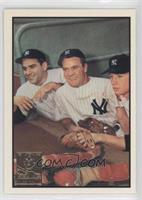 Hank Bauer, Yogi Berra, Mickey Mantle (1953 Bowman Color)
