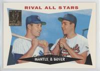Mickey Mantle, Ken Boyer (1960 Topps)