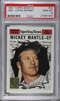 Mickey Mantle (1961 Topps) [PSA 10]