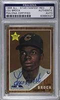 Lou Brock (1962 Tioos) [PSA/DNA Certified Auto]