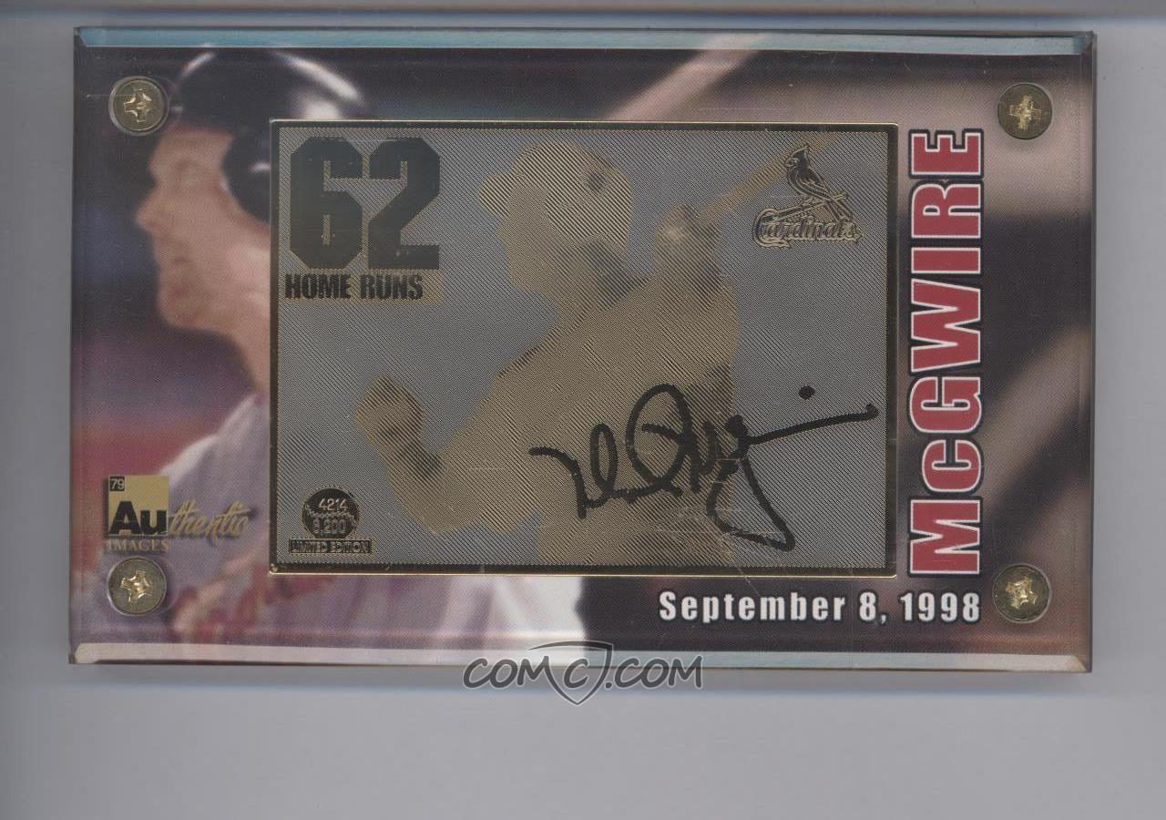 1998 Authentic Images Base Mlb 27 98 Mark Mcgwire 24 Karat