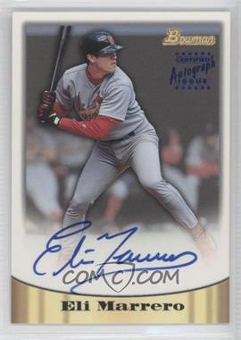 1998 Bowman - Certified Autograph Issue - Blue Foil #19 - Eli Marrero