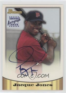 1998 Bowman - Certified Autograph Issue - Blue Foil #28 - Jacque Jones