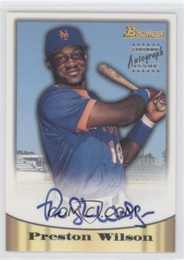 1998 Bowman - Certified Autograph Issue - Blue Foil #45 - Preston Wilson