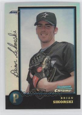 1998 Bowman Chrome - [Base] - Refractor #136 - Brian Sikorski