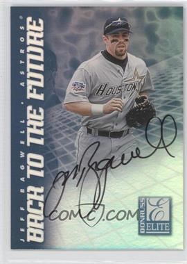 1998 Donruss Elite - Back to the Future - Autographs #2 - Jeff Bagwell, Todd Helton /100