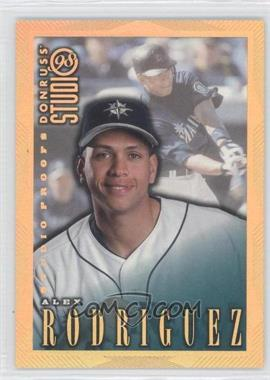 1998 Donruss Studio - [Base] - Studio Proofs Gold #42 - Alex Rodriguez /300