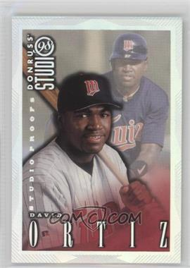 1998 Donruss Studio - [Base] - Studio Proofs #64 - David Ortiz /1000