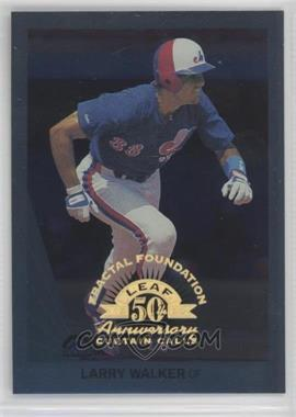 1998 Leaf Fractal Foundation - [Base] - Sample 3999 #154 - Larry Walker