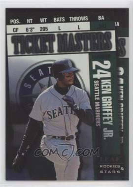 1998 Leaf Rookies & Stars - Ticket Masters - Non-Number #1 - Ken Griffey Jr., Alex Rodriguez
