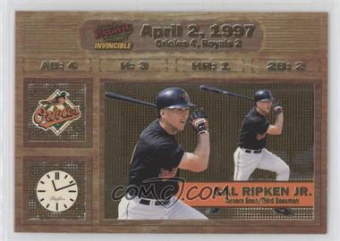 1998 Pacific Invincible - Moments in Time #2 - Cal Ripken Jr.