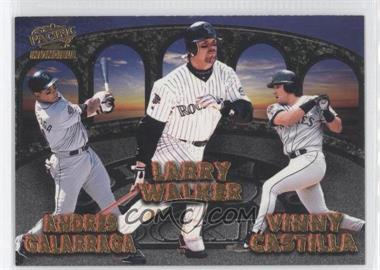 1998 Pacific Invincible - Team Checklists #9 - Andres Galarraga, Larry Walker, Vinny Castilla, Dante Bichette, Ellis Burks