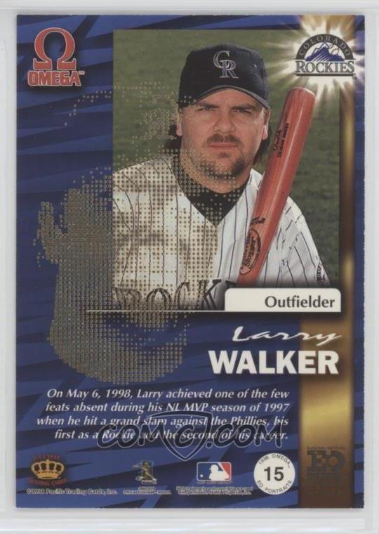 1998 Pacific Omega - EO Portraits #15 - Larry Walker