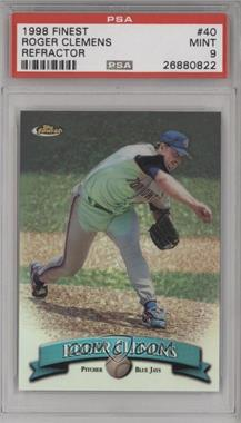 1998 Topps Finest - [Base] - No Protector Refractors #40 - Roger Clemens [PSA9MINT]