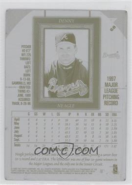 1998 Topps Gallery - [Base] - Printing Plate Black Back #168 - Denny Neagle