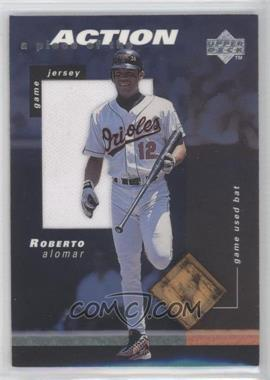 1998 Upper Deck - A Piece of the Action - Game Jersey & Game Used Bat #RA - Roberto Alomar
